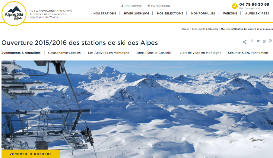 Alpes Ski Résa confie son blog à SWiTCH !