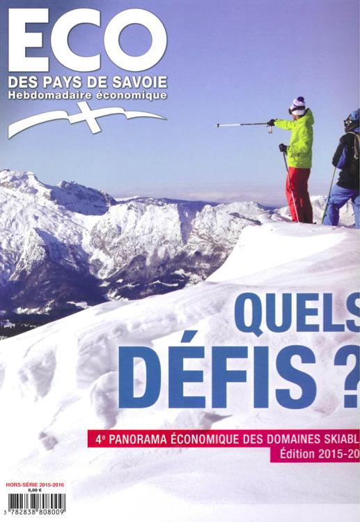 Couverture Eco des Pays de Savoie décembre 2015