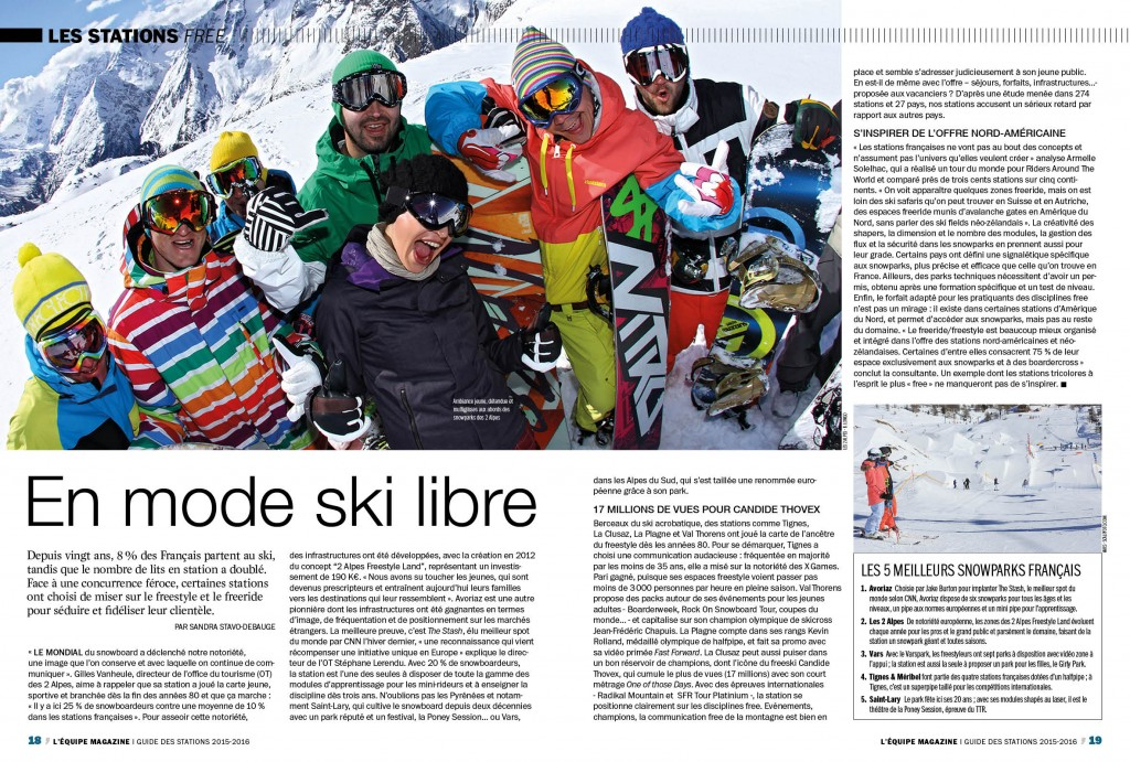 SWiTCH dans l'Equipe Magazine