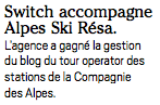 SWiTCH dans InterMedia - Alpes Ski Resa