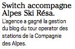 SWiTCH dans InterMedia - Alpes Ski Resa