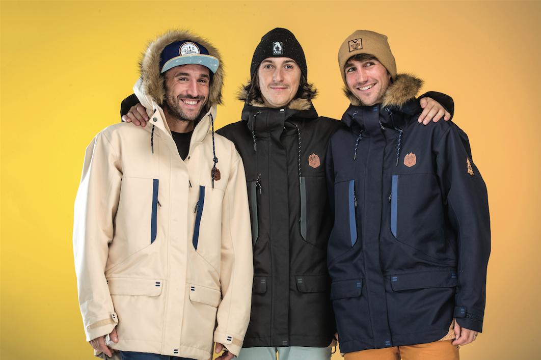 Julien Durant et les co-fondateurs de Picture Organic Clothing