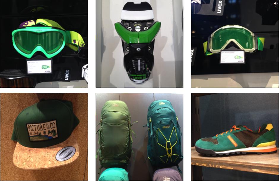 Accessoires verts 2017