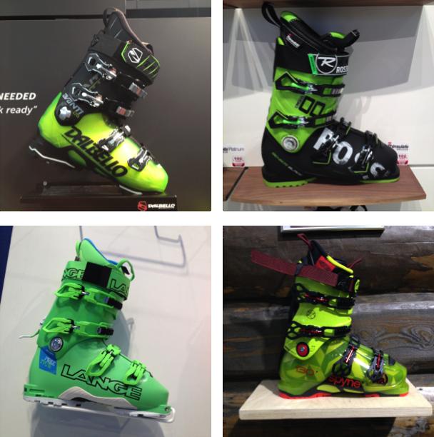 Skiboots vertes 2017