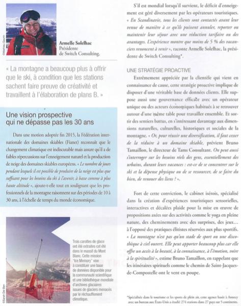 Article Armelle Solelhac - SWiTCH - Eco des Pays de Savoie 2017